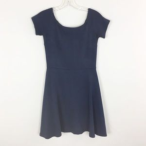 Aqua | Short Sleeve Navy Dress